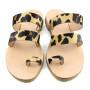 Santorini Leopard-Women Pony Hair Leather Sandals