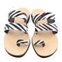 Santorini Zebra-Women Pony Hair Sandals