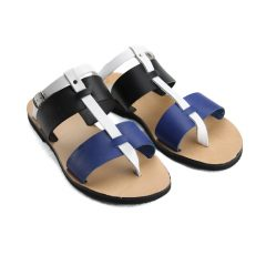 Hydra Blue Multi-Women Pony Hair Leather Sandals (5)