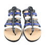 Ithaca Blue Multi-Women Leather Sandals