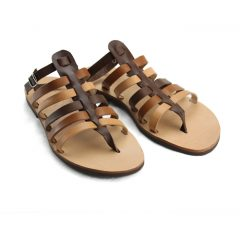 Ithaki Multi Brown-Women Leather Sandals