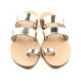 Santorini Platinum-Women Leather Sandals