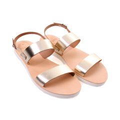 Chloe.2-Women Metallic Leather Sandals
