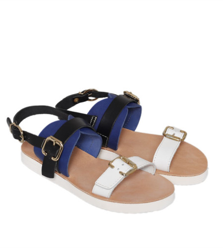 Venice-Metallic Women Leather Sandals