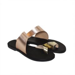 Antiparos-Women Metallic Leather Sandals