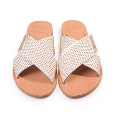 Gaia/Pin-Women Metallic Leather Sandals