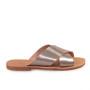 Gaia/Platinum-Women Leather Sandals