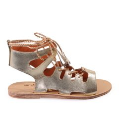 Media-Women Metallic Leather Sandals