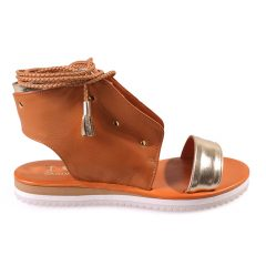 Sofia-Women Metallic Leather Sandals