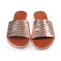 Nike-Women Metallic Leather Sandals