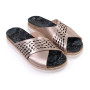 Roxane-Women Metallic Leather Sandals