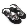 Althaia-Women Metallic Leather Sandals