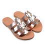 Isis-Women Metallic Leather Sandals