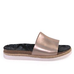 Anna-Women Metallic Leather Sandals