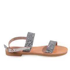 Chloe-Women Glitter Leather Sandals