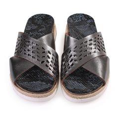 Roxane-Women Metallic Leather Sandals