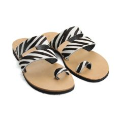 Santorini Zebra-Women Pony Hair Sandals