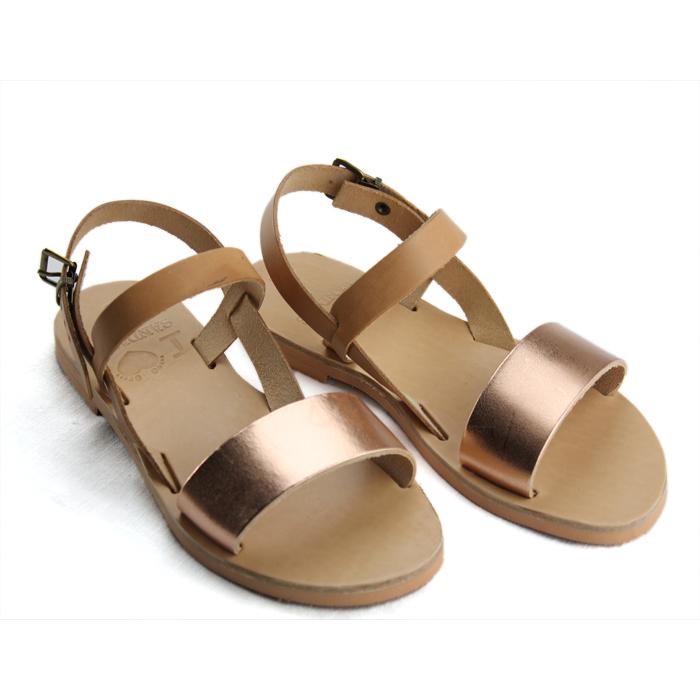53c5a7b07 Cyprus Bronze-Women Metallic Leather Sandals