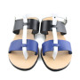 Hydra blue multi-Women Pony Hair Leather Sandals (3)