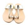 Patmos Silver- Women Metallic Leather Sandals