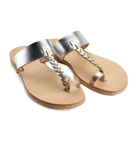Patmos Metal Multi- Women Metallic Leather Sandals