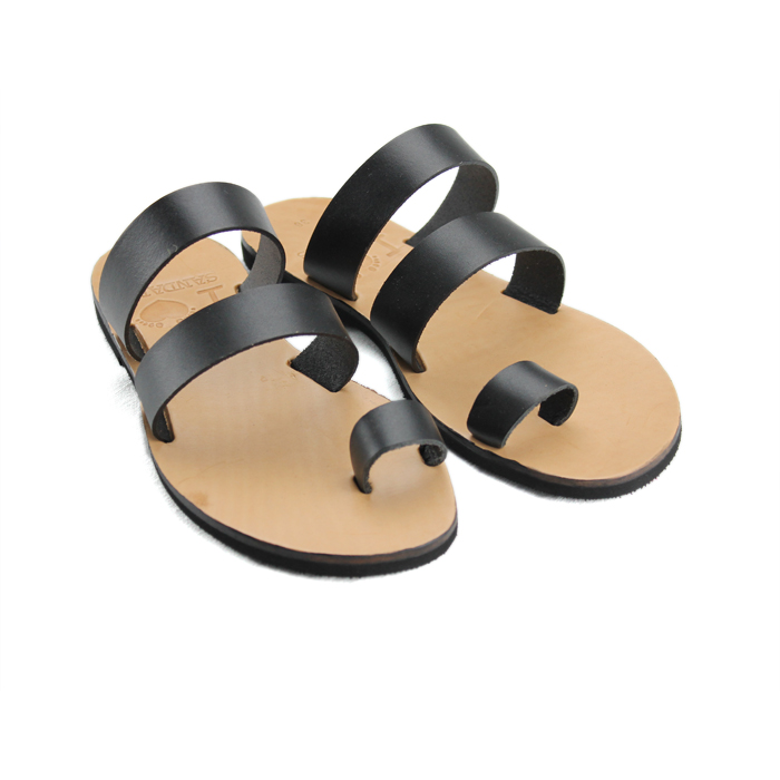 e68310f460fc7 Santorini Black-Women Leather Sandals