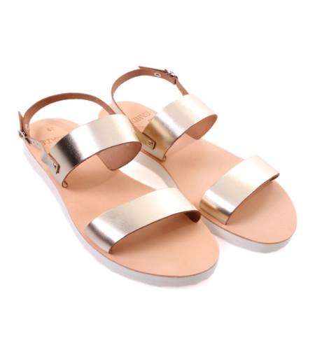Chloe.2-Women Metallic Leather Sandals
