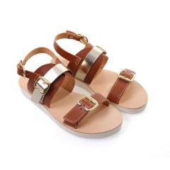 Venice-Women Metallic Leather Sandals