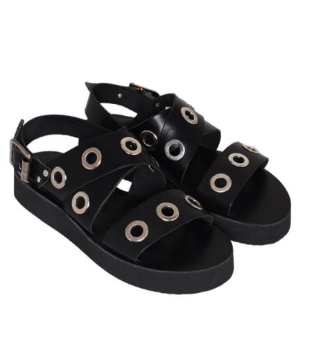 Milan-Women Metallic Leather Sandals