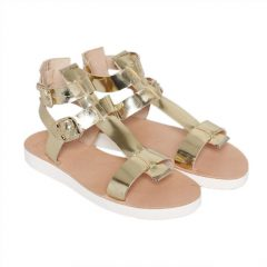 Rome.R-Women Metallic Leather Sandals