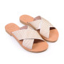 GaiaPin-Women Metallic Leather Sandals