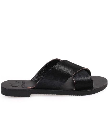 Gaia-Women Pony Leather Sandals