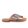 Gaia/Platinum-Women Leather Sandals