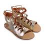 Media-Women Metallic Leather Sandals