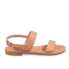 Chloe/Pin-Women Metallic Leather Sandals