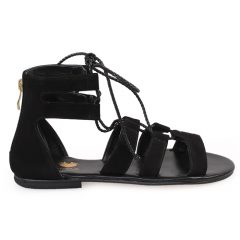 Phaidra-Women Metallic Leather Sandals
