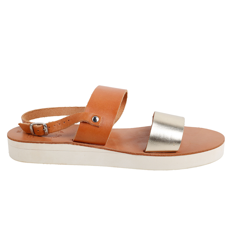 1ee00aee6ff Chloe.2-Women Metallic Leather Sandals