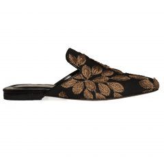 Julia/Flower-Women Leather Sandals