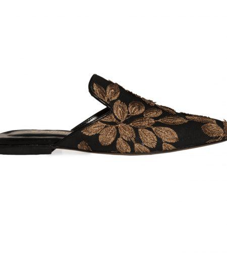 Julia/Flower-Women Leather Sandals