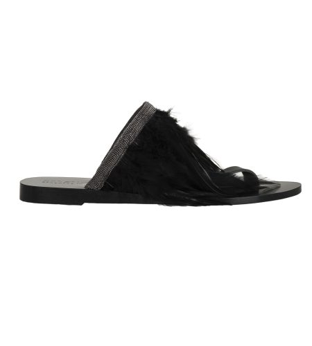 Lucia/Feather- Women Leather Sandals